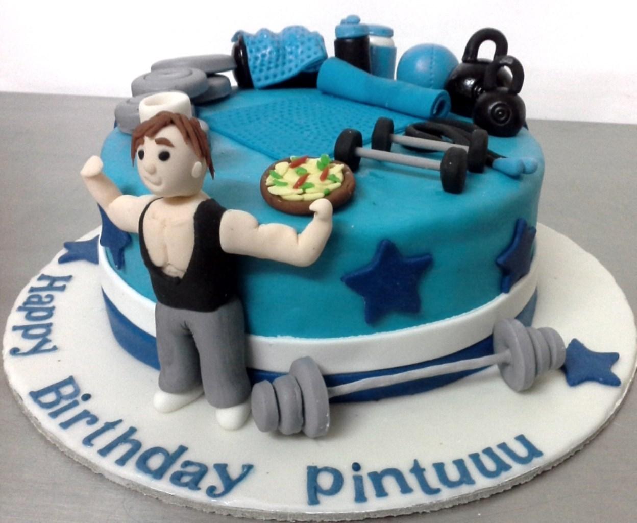 8 Happy Birthday Gym Cakes For Men Photo Happy Birthday