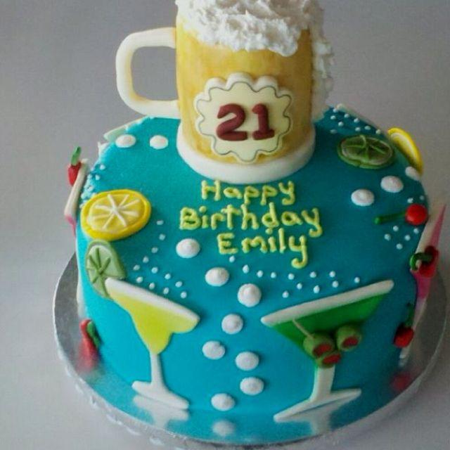 Swell 10 Happy 21St Birthday Cakes Photo Happy 21St Birthday Cake Personalised Birthday Cards Paralily Jamesorg