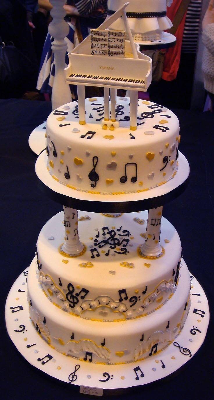 10 Piano Notes Wedding Cakes Photo Music Themed Wedding Cake