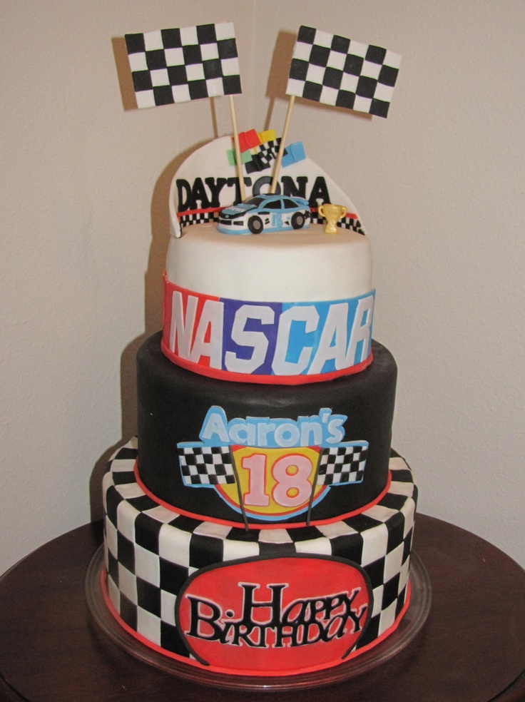 Magnificent 10 Nascar Cakes For Her 35Th Birthday Photo Nascar Birthday Cake Birthday Cards Printable Benkemecafe Filternl