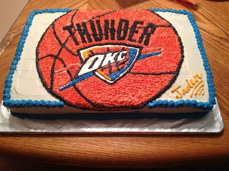 12 OKC Thunder Birthday Cakes Of Awesome Photo OKC Thunder