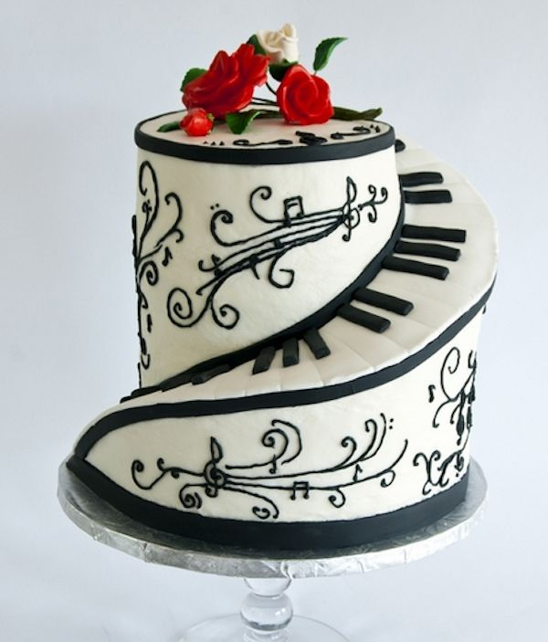 Remarkable 10 Classy Birthday Cakes Music Photo Piano Cake Music Birthday Funny Birthday Cards Online Alyptdamsfinfo