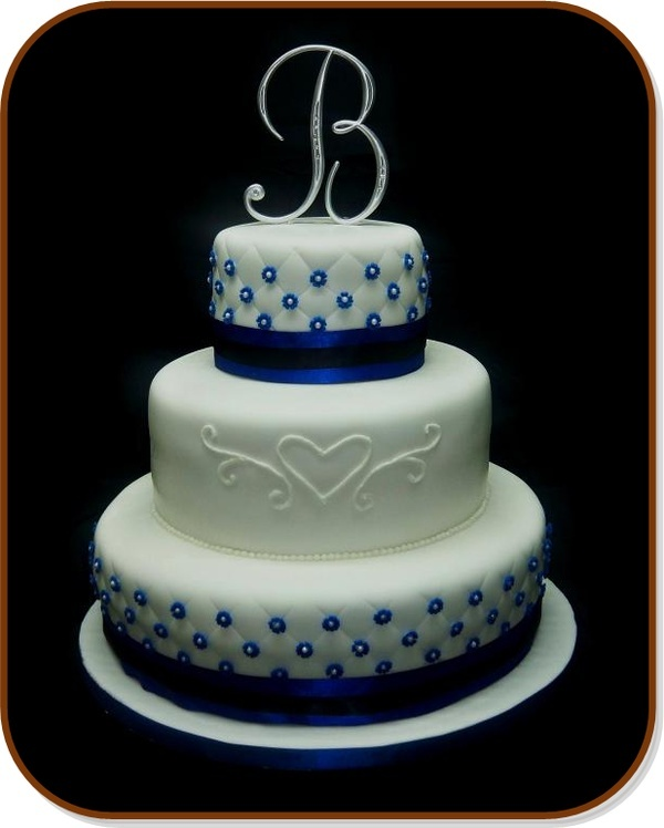 10 Simple Wedding Cakes With Royal Blue Photo Royal Blue Wedding