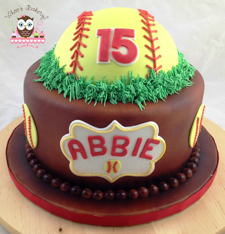 Tremendous 8 Softball Graduation Cakes Google Photo Softball Graduation Personalised Birthday Cards Paralily Jamesorg