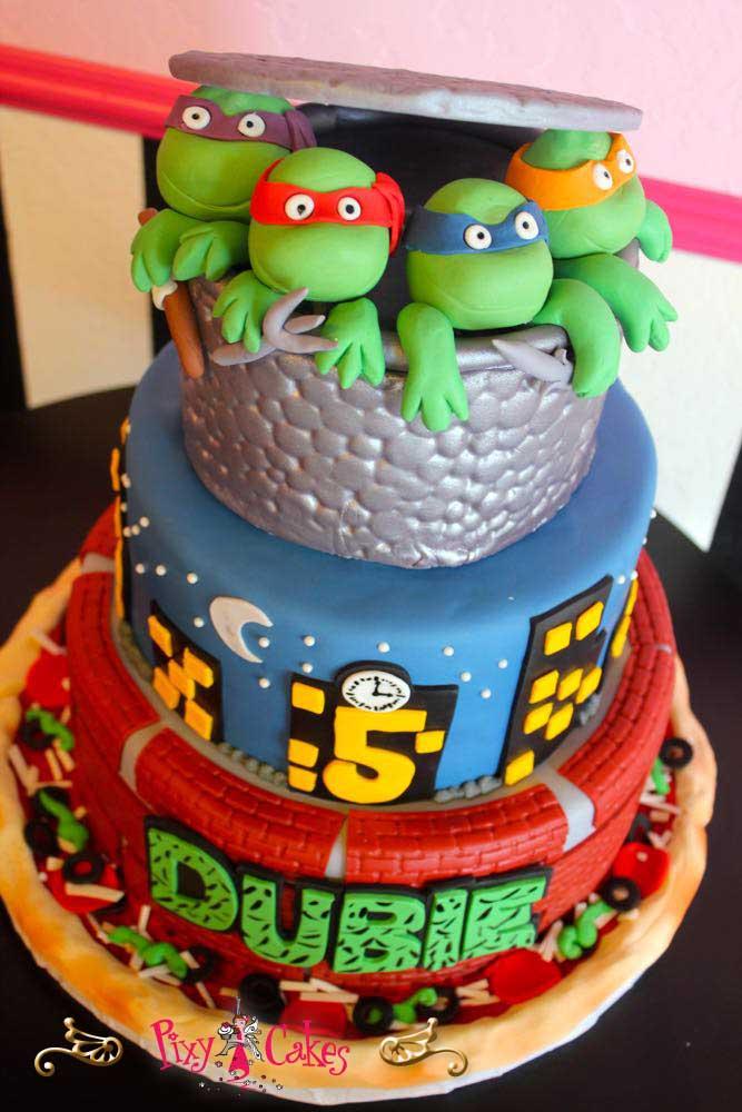 Fabulous 11 Ninja Turtle Birthday Cakes For Boys Photo Boys Ninja Turtles Funny Birthday Cards Online Aeocydamsfinfo