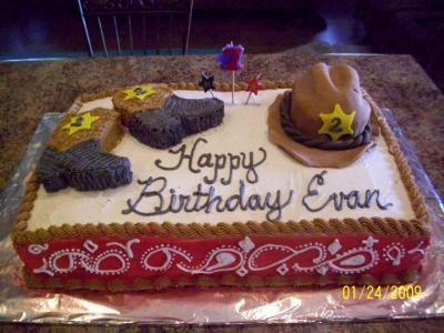 13 Cowboy 2nd Birthday Theme Cakes Photo Cowboy Themed Birthday