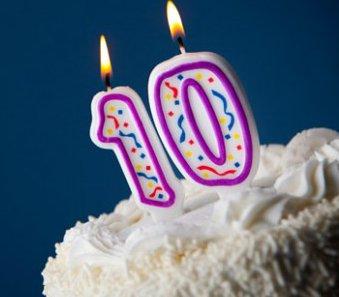 10 Year Birthday Cake