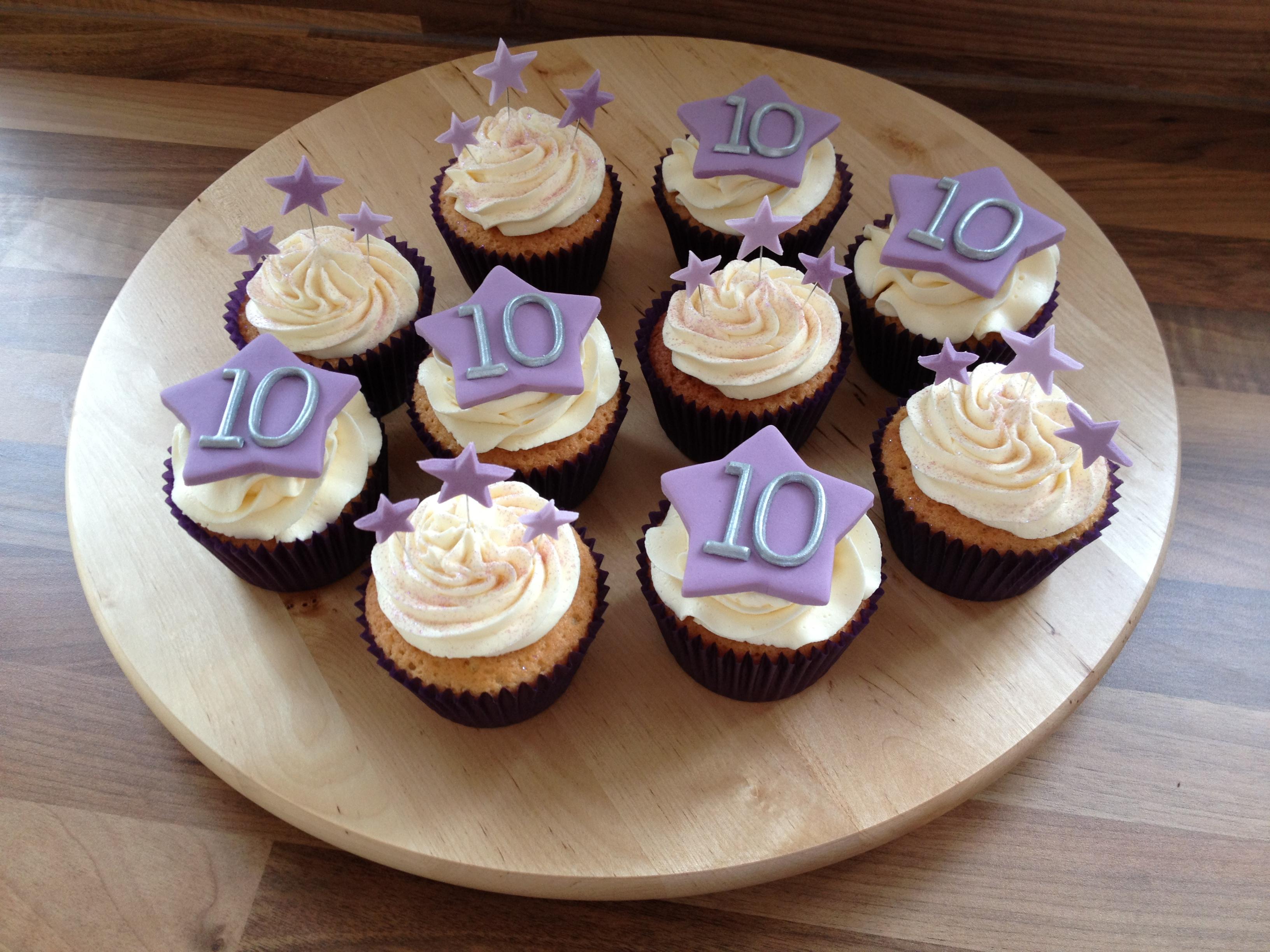 11 10 years anniversary cupcakes photo 10th wedding anniversary