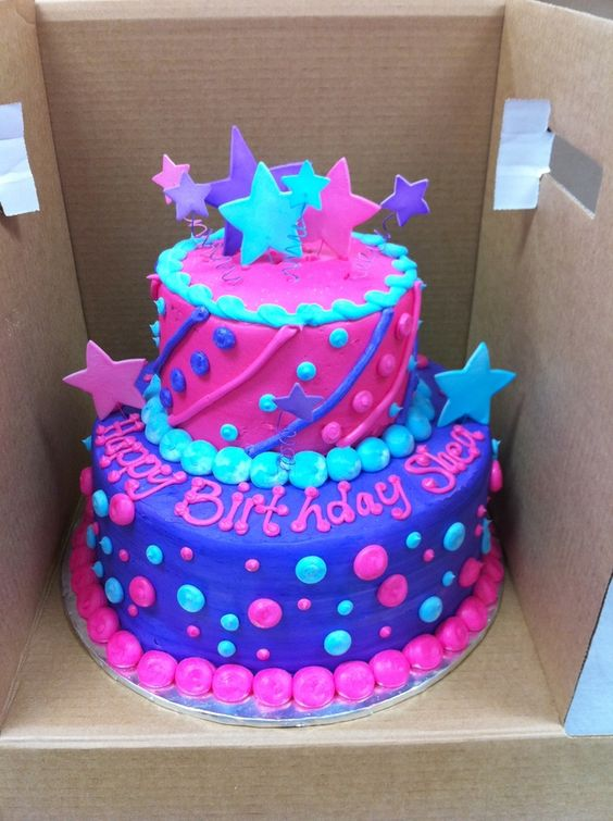 Miraculous 13 Happy Birthday Girl 2 Layered Cakes Photo 2 Year Old Girl Personalised Birthday Cards Arneslily Jamesorg