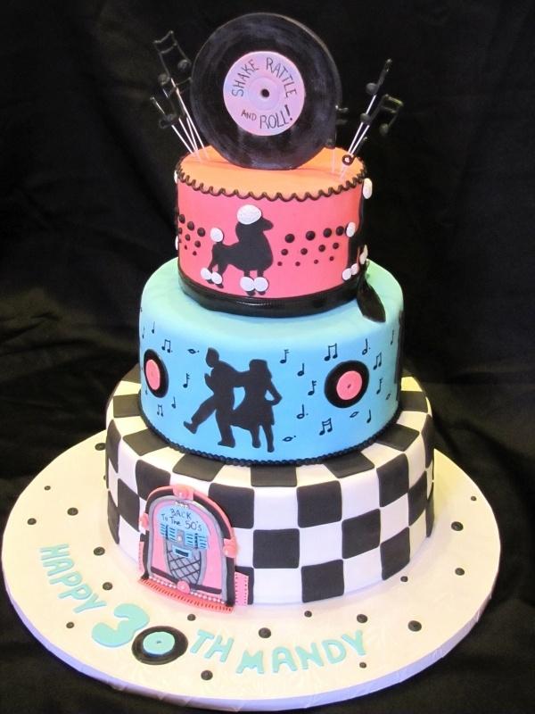 13 50 S Birthday Cakes Pinterest Photo Sock Hop Cake 50s Themed