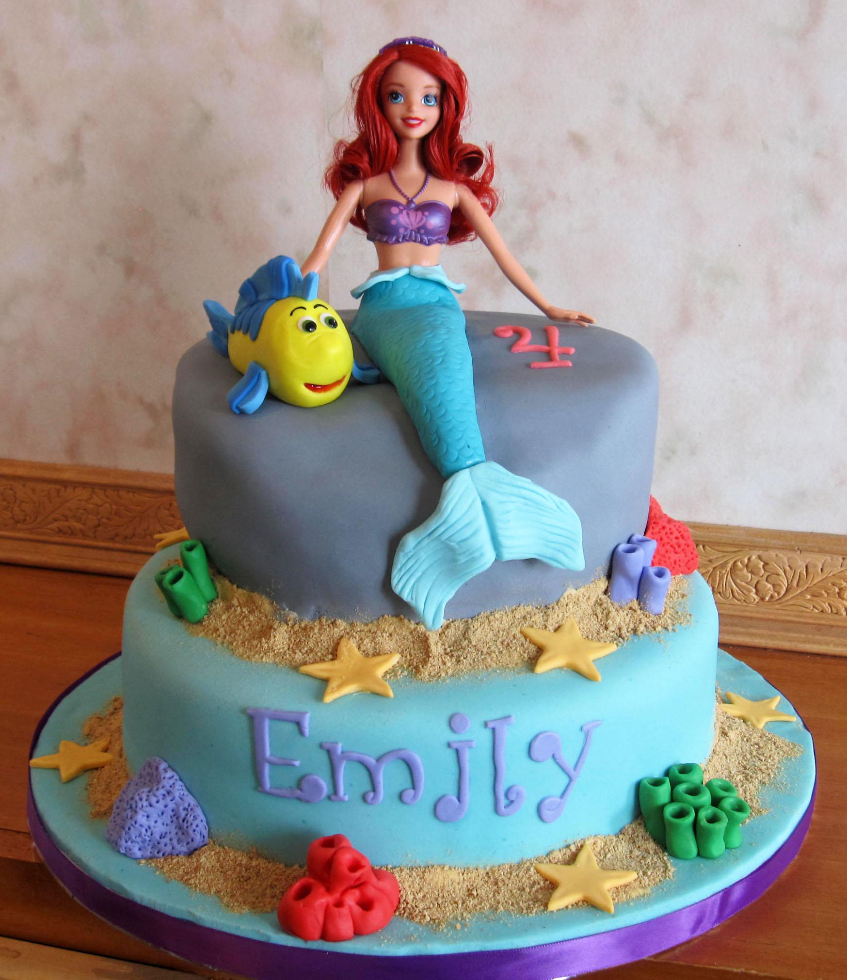 6 Ariel Birthday Cakes For Girls Photo Ariel Little Mermaid