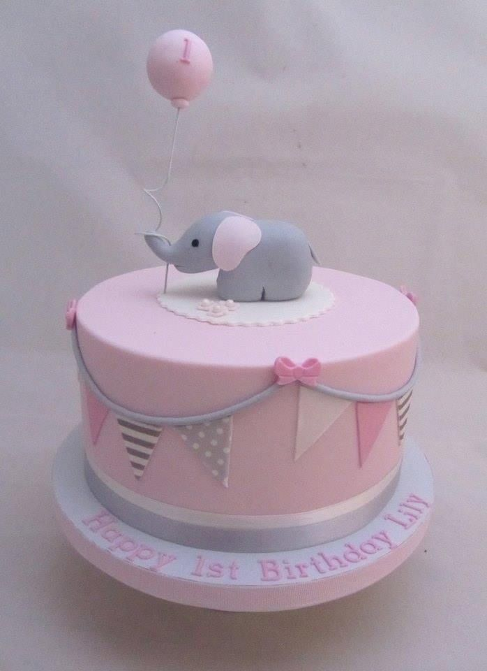 12 Elephant Birthday Cakes For Girls Photo Elephant Birthday Cake