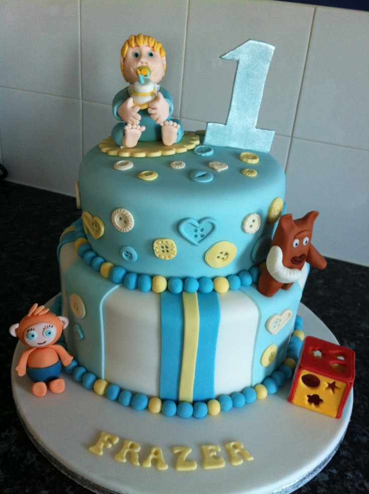 Boys 1st Birthday Cake