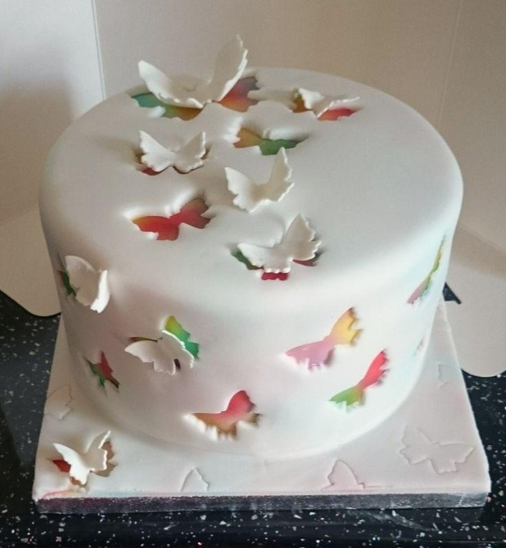 Butterfly Fondant Cake