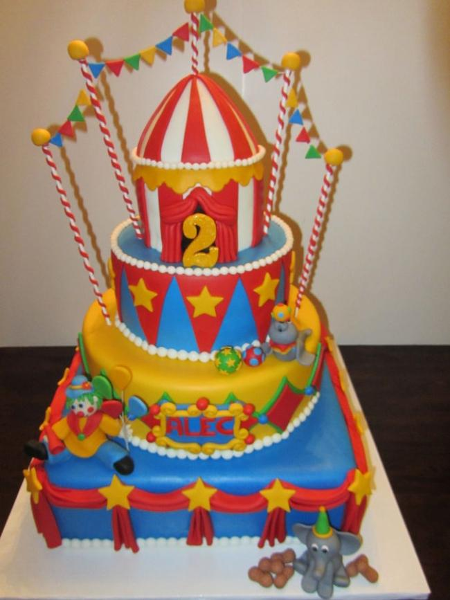 10 Boys First Birthday Circus Cakes Photo Circus First Birthday
