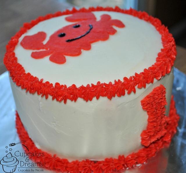9 Crab Birthday Cupcakes Photo Crab Birthday Cake Crab Birthday