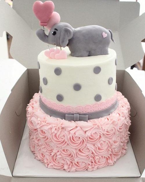 Elephant Baby Shower Cake Idea