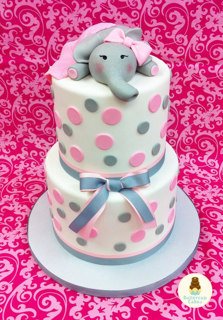 Fabulous 12 Elephant Birthday Cakes For Girls Photo Elephant Birthday Birthday Cards Printable Trancafe Filternl