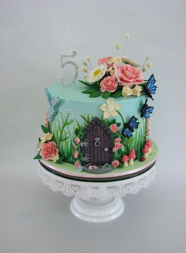 7 Garden Themed Birthday Cakes Photo - Fairy Garden Theme Birthday ...