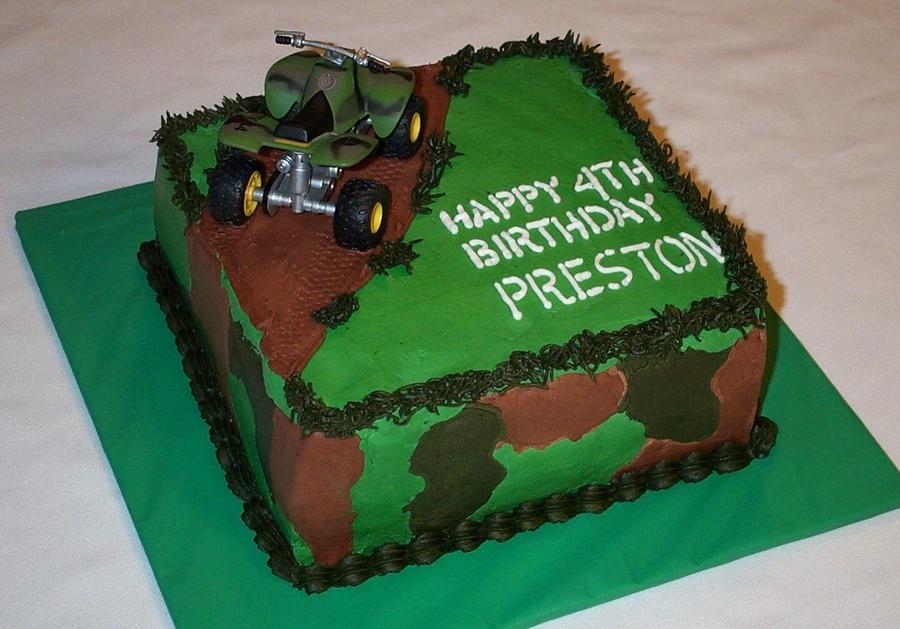 13 Four Wheeler Cakes For Boys Photo Four Wheeler Birthday Cake 4