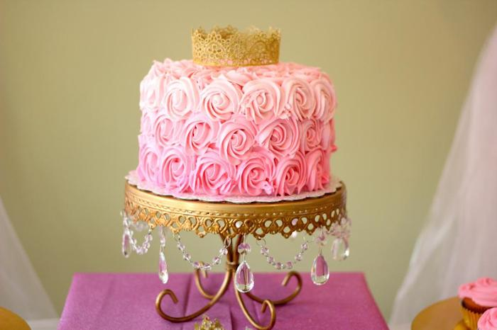 10 Queen Gold And Pink Themed Cakes Photo Gold and Pink Princess