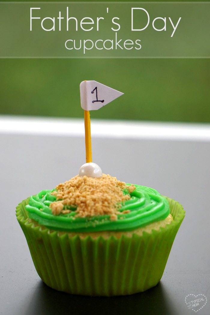 Golf Father's Day Cupcakes Idea