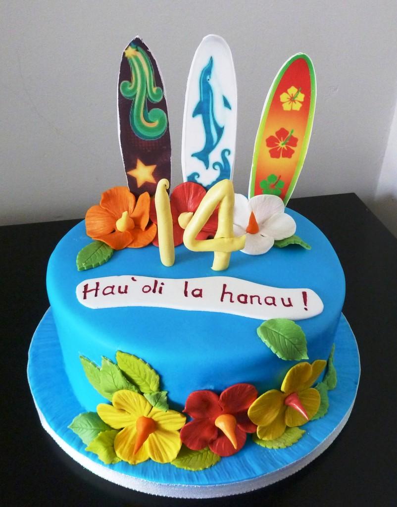 11 Birthday Cakes Hawaiian Islands Photo Hawaiian Island Birthday