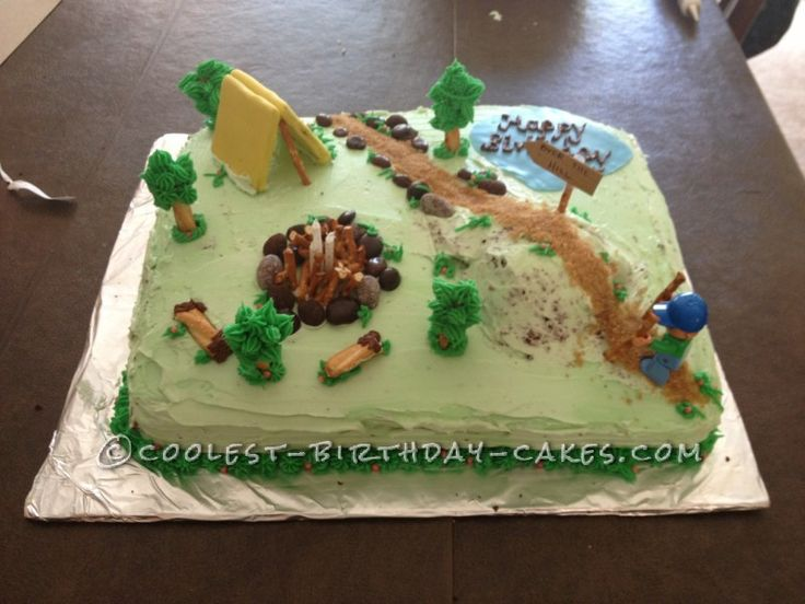 Hiking Birthday Cake Add