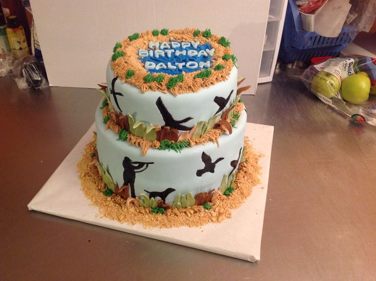 Super 7 Duck Hunting Themed Cakes Photo Duck Hunting Grooms Cake Ideas Personalised Birthday Cards Bromeletsinfo