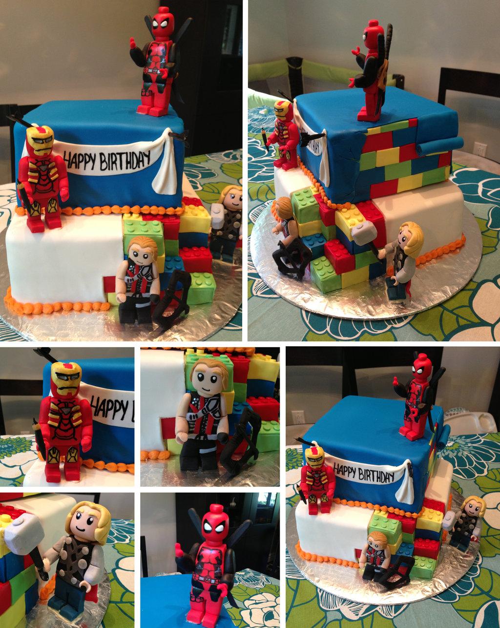 7 Marvel Wars Cake Cakes Photo Lego Marvel Super Heroes Cake Lego