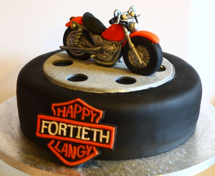 Pleasant 11 Motorcycle Cakes For Men Photo Happy Birthday Motorcycle Funny Birthday Cards Online Alyptdamsfinfo