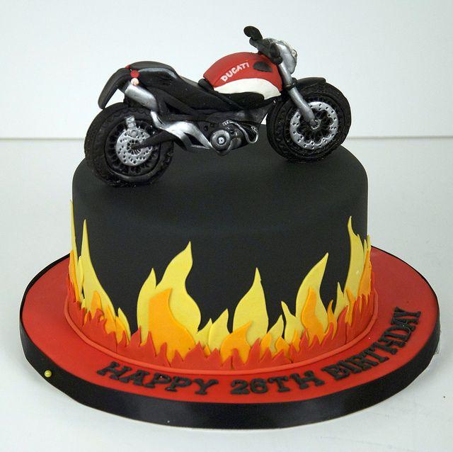 Astonishing 11 Motorcycle Cakes For Men Photo Happy Birthday Motorcycle Personalised Birthday Cards Epsylily Jamesorg