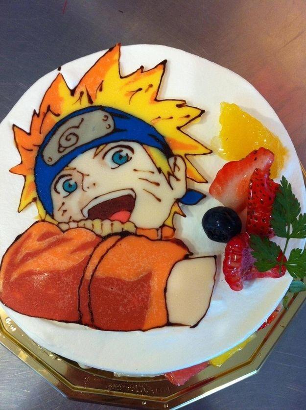 Tremendous 12 Anime Amazing Anime Fondant Cakes Photo Naruto Anime Cake Personalised Birthday Cards Akebfashionlily Jamesorg