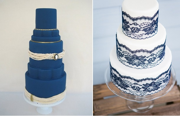 11 navy vintage buttercream wedding cakes photo navy blue wedding navy blue wedding cake junglespirit Image collections