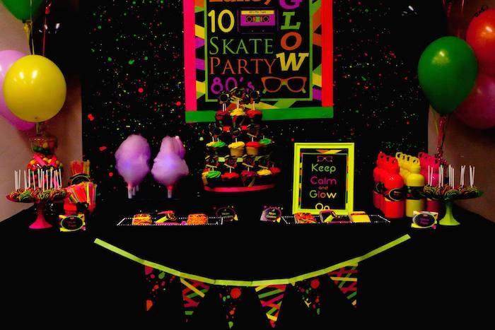 Source 12 Neon 80s Birthday Cakes Photo Party Cake Ideas