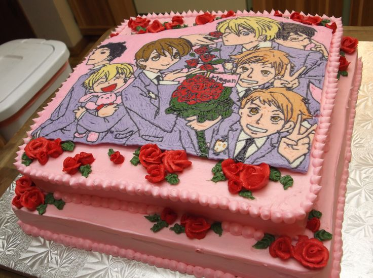 7 Anime Twin Birthday Cakes Photo Ouran High School Host Club