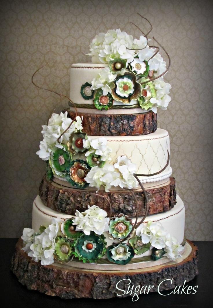 10 Wood Themed Wedding Cakes Photo - Rustic Country Wedding Cake ...