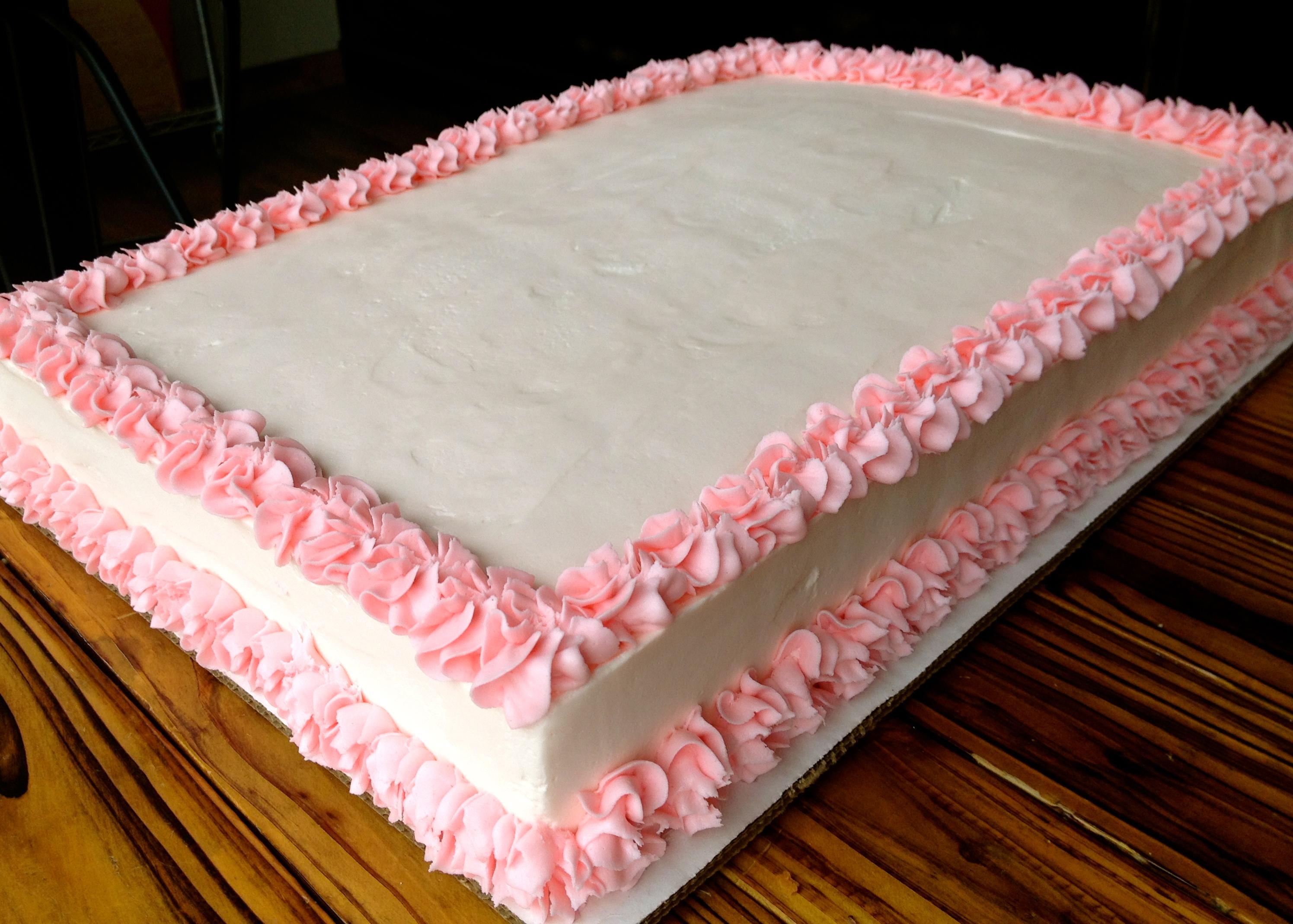 11 Gift Decorated Sheet Cakes Photo - Wedding Sheet Cake Decorating ...
