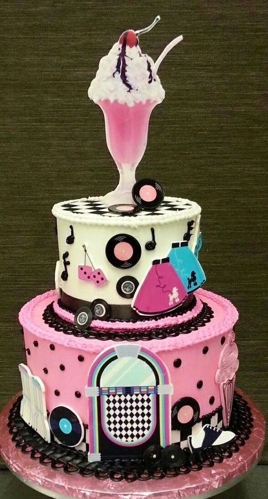 Sock Hop Cake Via 50s Themed Birthday