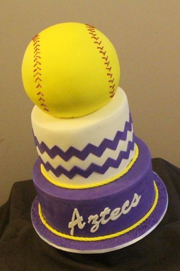 12 Sweet 16 Birthday Cakes Softball Photo Softball Birthday Cake