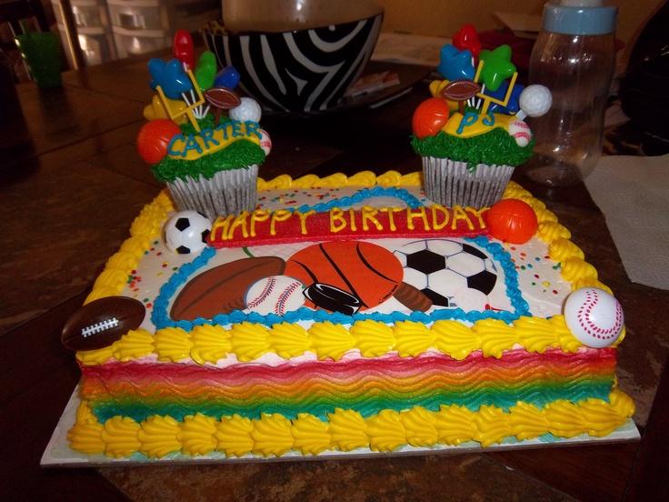 Fantastic 13 Big Birthday Cakes For Boys Sports Photo Sports Cupcake Funny Birthday Cards Online Alyptdamsfinfo