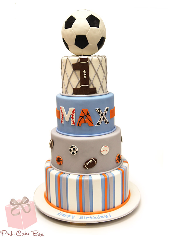 Marvelous 7 Soccer 3 Layer Birthday Cakes Photo Girl Soccer Birthday Cake Funny Birthday Cards Online Alyptdamsfinfo