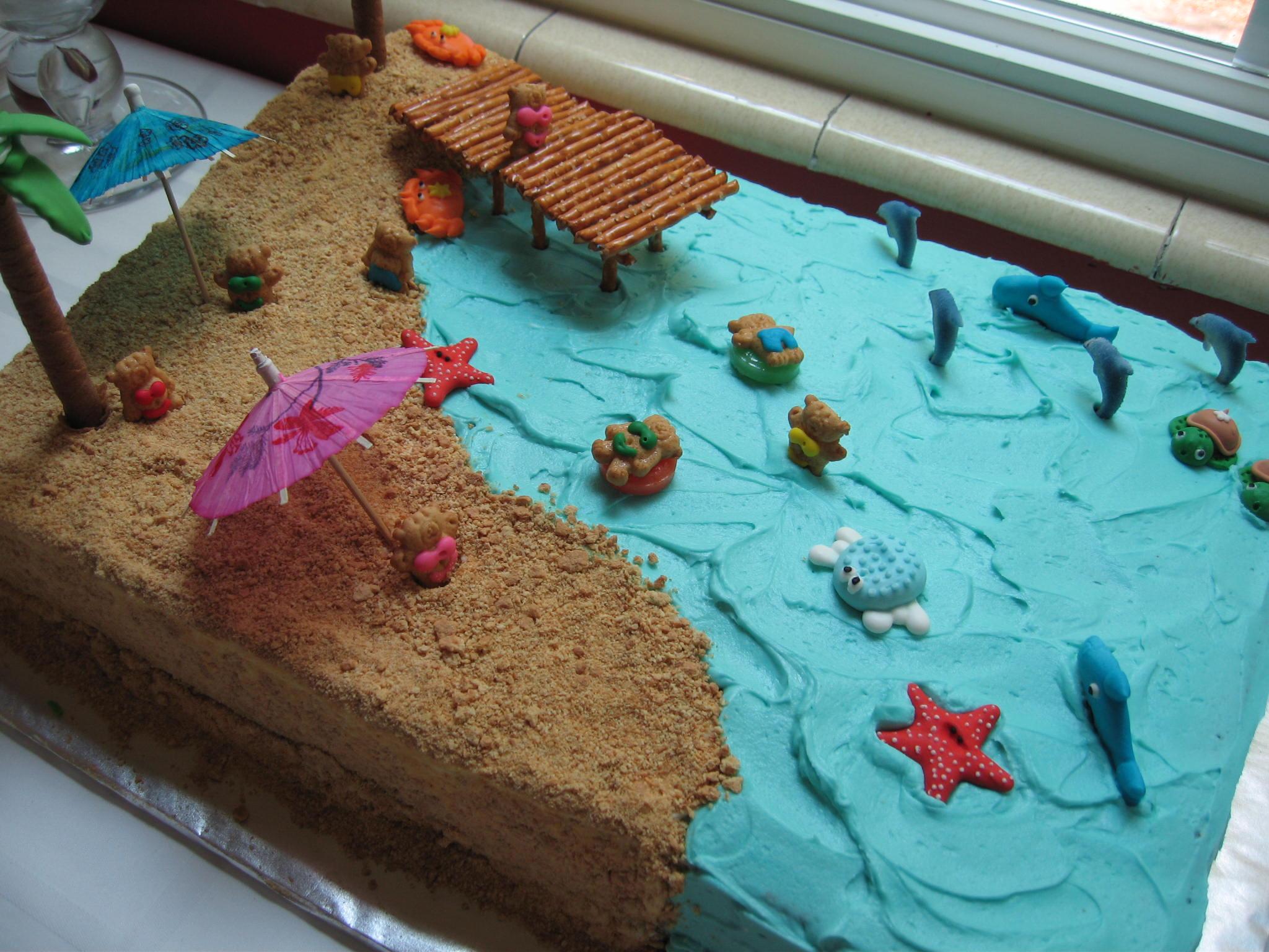 12 Sheet Cakes Simple Summer Photo Summer Beach Themed Cake