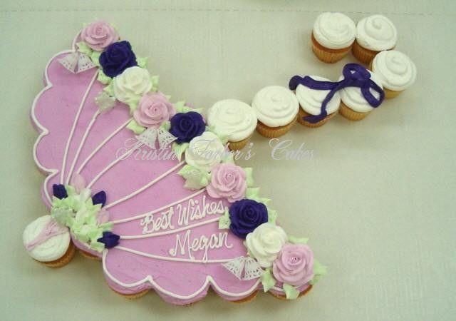 umbrella for bridal shower cupcake cake