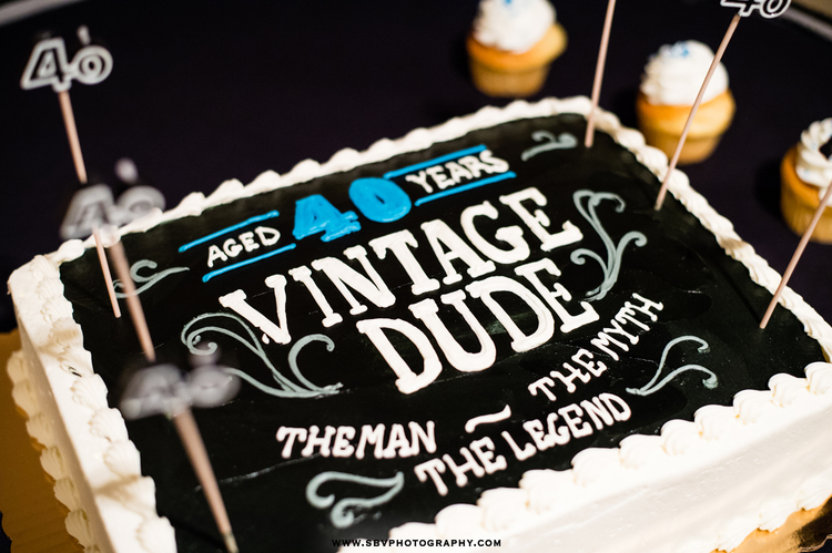 Vintage Dude 40 Year Birthday Cake