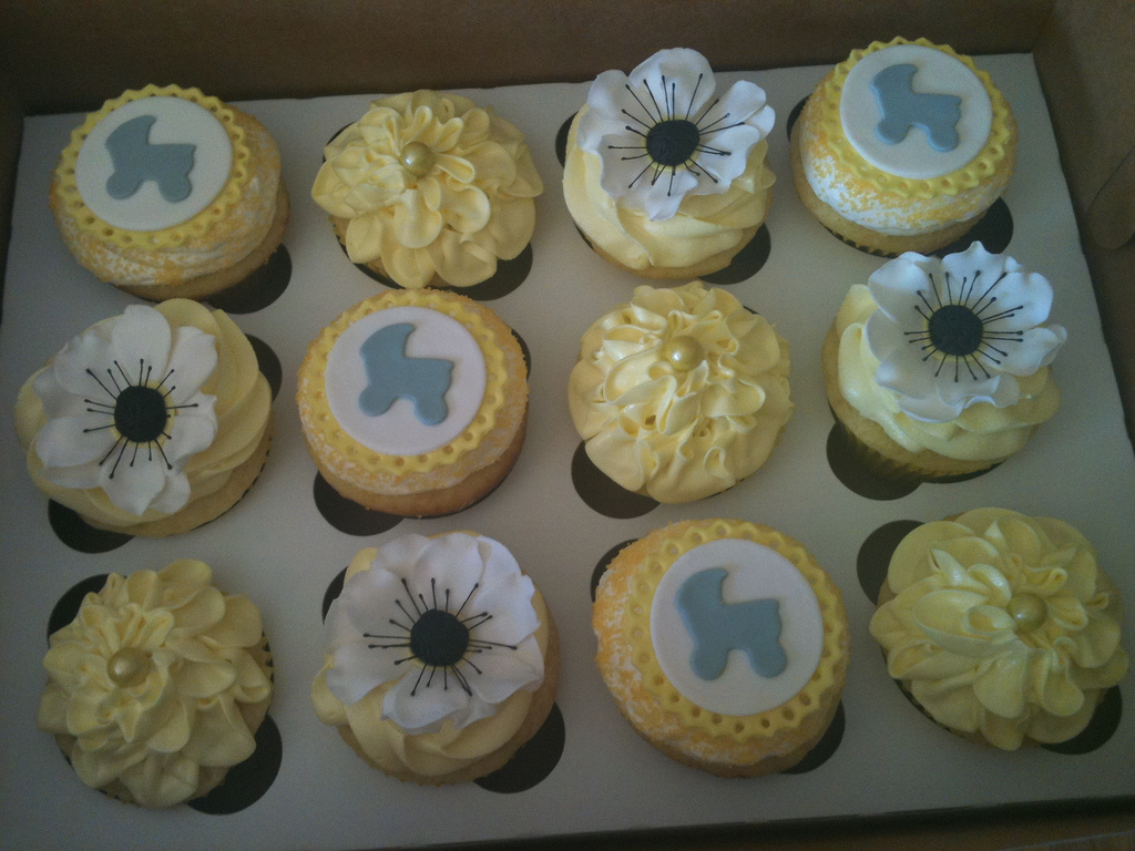 cf12dd0bb4b 9 Yellow Baby Shower Cupcakes Photo - Yellow and Gray Baby Shower ...