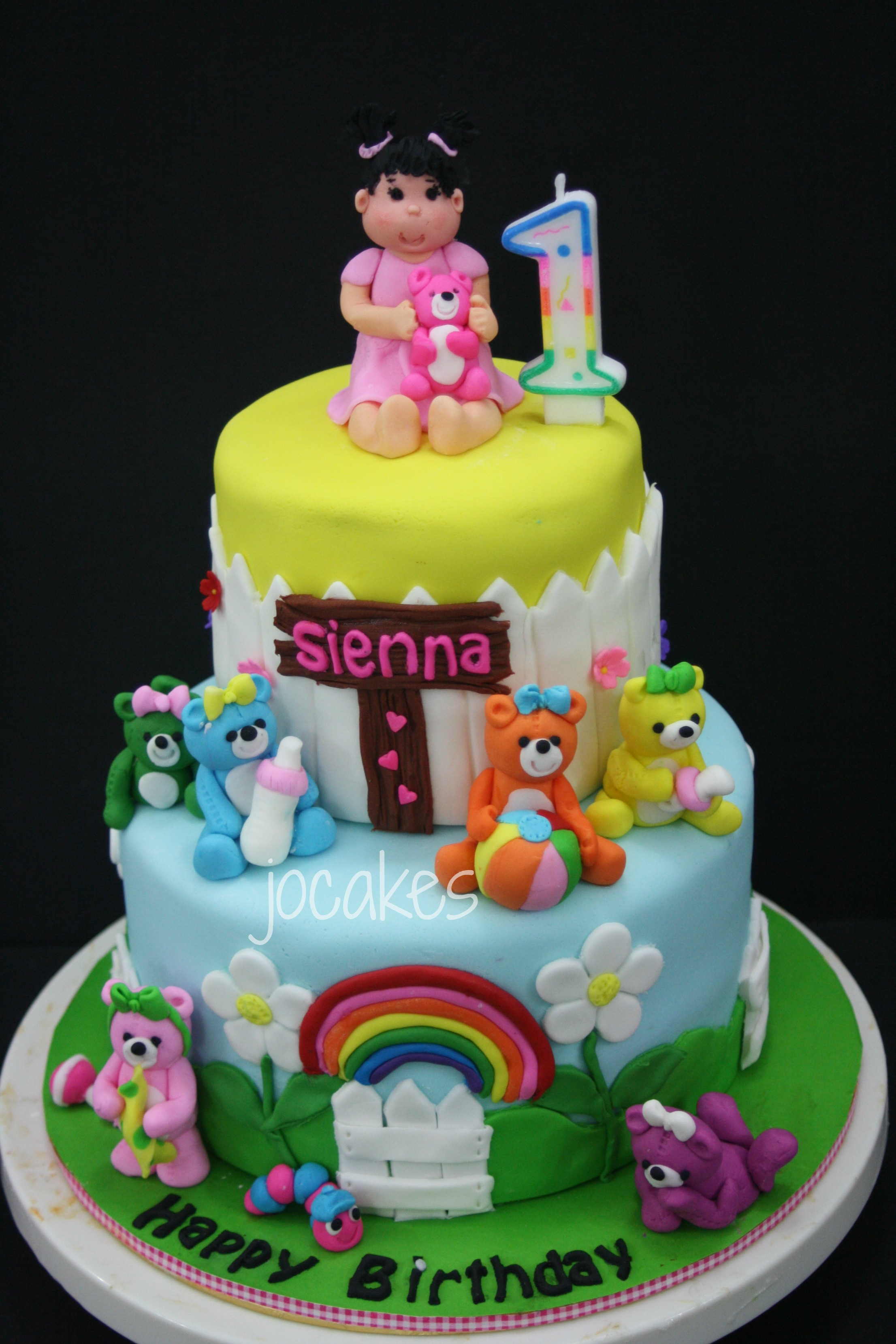 1 Year Old Girl Birthday Cake