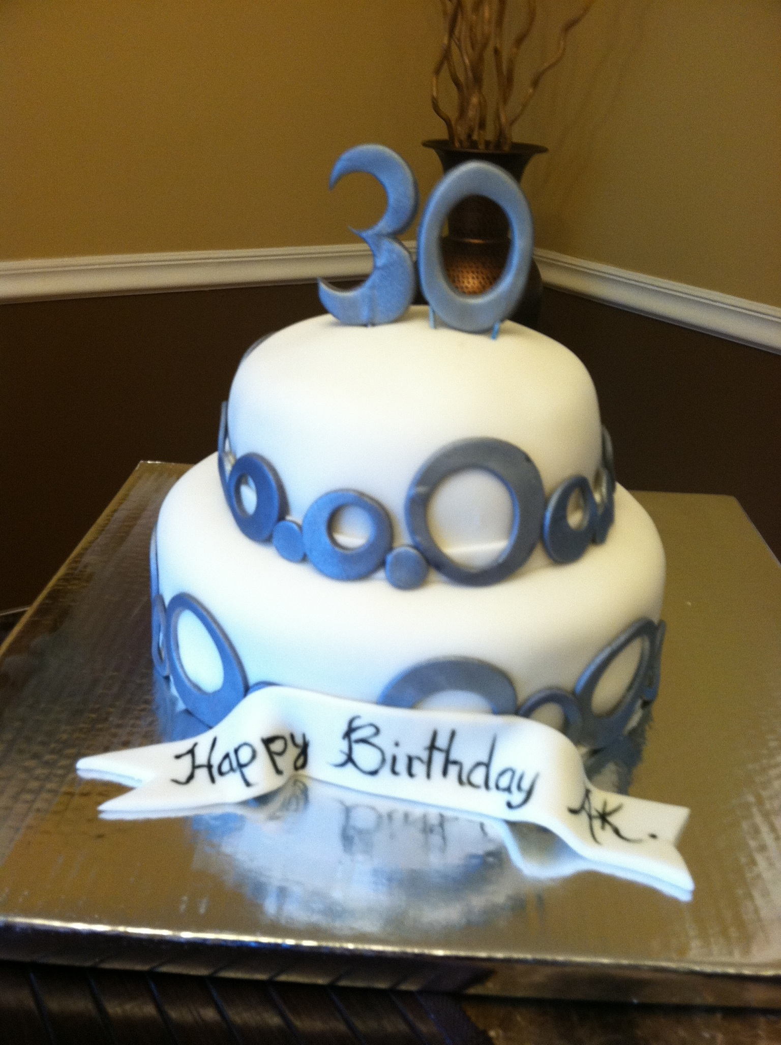 12 30th Birthday Cakes For Adults Photo 2 Tier 30th Birthday Cake