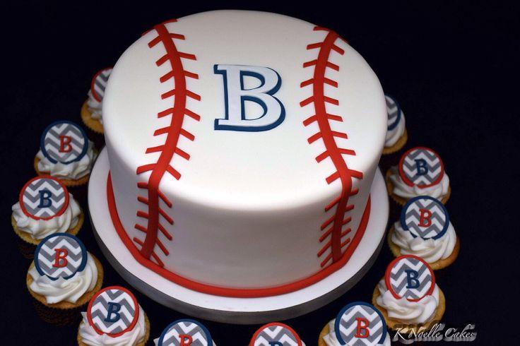 11 Baseball Baby Shower Cupcakes Photo Baseball Baby Shower Cake