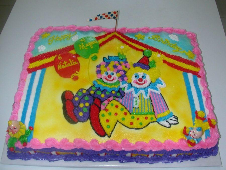 Pleasing 9 Cartoon Clowns And Birthday Cakes Photo Clown Birthday Cake Funny Birthday Cards Online Inifodamsfinfo